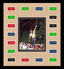Jack Nicklaus Masters British US Open PGA photo w/ all 18 majors framed art