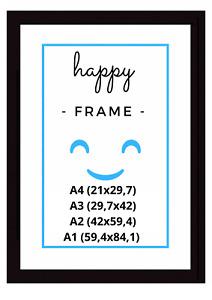 Bilderrahmen DIN A4 - A3 - A2 - A1, Fotorahmen - Holz - Schwarz - Black - Frame