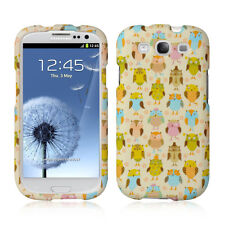 For Samsung Galaxy S III 3 Rubberized HARD Case Snap Phone Cover Fancy Owl