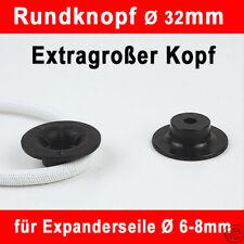 10x Rundknopf schwarz 10x Blindniet 6-8mm Expanderseil
