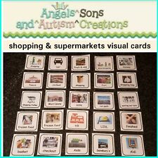Shopping & supermarchés cartes sur anneau fendu-Pecs/aides visuelles-Autisme ASD