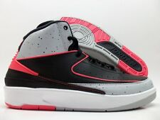 NIKE AIR JORDAN 2 RETRO (BG) BLACK/INFRARED SIZE 4Y/WOMEN'S 5.5 [395718-023]
