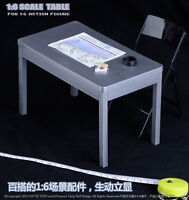 1/6 Scale Furniture Table Desk Chair Stand for 12 inch Action Figure Solider Toy