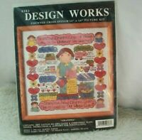 """Vintage Counted Cross Stitch Kit Design Works """"Grandma"""" Picture 9383 NOS Sealed"""