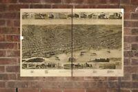 Vintage Memphis Print, Aerial Memphis Photo, Vintage Memphis TN Pic, Old Memphis