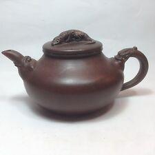 Yixing PotteryTeapot Dragon Handle and Lizard On The Lip, TE23-25