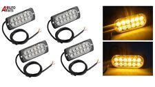 4 Pcs Led Strobe Lights Bar Amber Truck Hazard Beacon Flash Warn Emergency Lamp