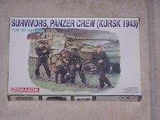 Figurines DRAGON 1/35ème SURVIVORS, PANZER CREW (KURSK 1943)
