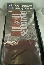 """Mississippi State Bulldogs Flag - MSU - 22"""" X 44"""" - Applique Flag - """"Bully"""" New"""