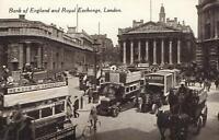 EARLY 1900's VINTAGE BANK of ENGLAND & ROYAL EXCHANGE LONDON POSTCARD - UNUSED