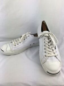 Converse Jack Purcell Unisex Sneakers White AS961 Leather Shoes Men 13 Low Top