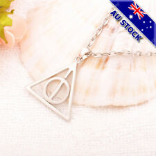 Rotatable Harry Potter and The Deathly Hallows Triangle Necklace Chain Pendant