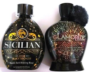 NEW Glamorize Fabulous 24X Tanning Lotion By Designer Skin & The Sicilian 200X