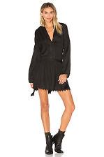 NEW ANTHROPOLOGIE Tryb 212 KARLIE DRESS~ORGANIC~PEASANT SMOCK~BOHO~TASSELS $325