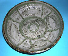 Studio Art Pottery - Decorative Sgraffito Bowl In An Abstract Eye Design -Signed