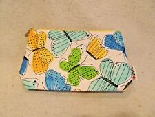 Vera For Clinique Butterfly Small Make Up Case Cosmetic Bag Ladybug Blue Green