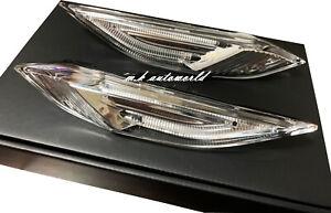 Clear Lens White LED Light Indicator Side Marker For Porsche 958 Cayenne S GT