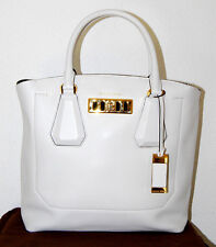 MICHAEL KORS COLLECTION Handtasche 1125€ Neu LG EW Tote optic white Leder Tasche