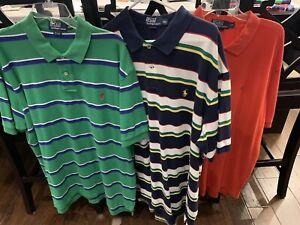 Lot 3 Ralph Lauren Polo Mens Short Sleeve Polo Shirts Sz XXL