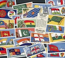"GOODIES LTD 1961 SET OF 25 ""FLAGS AND EMBLEMS"" TRADE CARDS"
