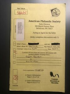 American Philatelic Society Sales Book - Retired Great Britain - 137 stamps