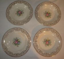 Triumph Limoges Rosalie Lot of 4 Rim Soup Bowls 8 1/4""
