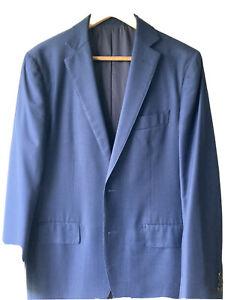 MJ Bale Mens Blue Wool Suit Size 40/34 Ex Condtion