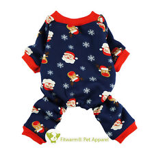 Fitwarm Santa Dog Clothes Pajamas Xmas Pet Coat Warm Jumpsuit Reindeer Costumes