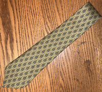 Hermes 7591 SA Floral Yellow / Green 100% Silk Tie