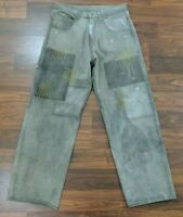 Vintage Guess Workwear Mens Jeans Straight Leg Gray Denim Size 30 x 34