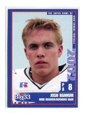 JOSH HANNUM 2002 Big 33 Pennsylvania PA High School card PENN STATE WR / DB
