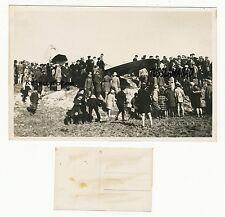 Flugzeug Wrack Kinder Schaulustige siehe Technik Postkarte