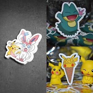 Pokemon 3 Sticker Bundle Munchlax Pikachu Sylveon Stickers Pocket Monsters .