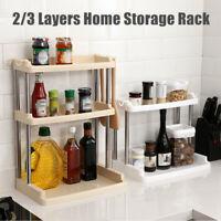 2/3 Layers Multifunctional Storage Shelf Rack Home Kitchen Bath Organizer Holder