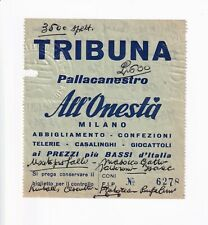BIGLIETTO BASKET - PALLACAN. ALL'ONESTA' MILANO vs IGNIS VARESE - PALALIDO 1965