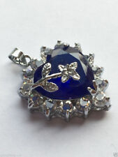 hot Genuine Jewelry blue  Necklace Pendant Free Chain