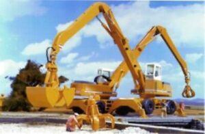 Conrad 2839 Liebherr A954 Wheel Excavator w/Clam & Grapple 1/50 Die-cast NEW