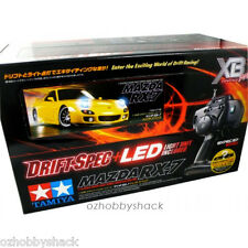 1/10 TAMIYA 57766 XB Pro Mazda RX-7 TT-01D LED Drift Spec RC Pro RTR Car