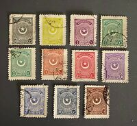 Turkey 1924 Star & Crescent Issue Second Printing, Isfila #1137/1147