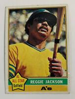 1976 Reggie Jackson # 500 Oakland A's Athletics Topps Baseball Card HOF