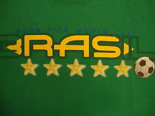 FIFA World Cup 2006 Brasil Soccer Game Sports Vacation Green T Shirt XL