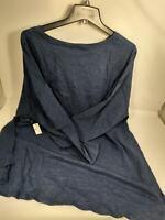 Daily Ritual Women's Cotton 3/4-Sleeve Drop-Shoulder Tunic Heather, XX-Large