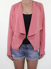 BNWT Coral pink casual evening blazer jacket size 12 euro 40
