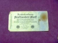 500 Mark Reich banknoten Germany bankote