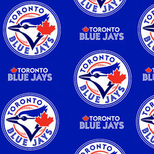 Toronto Blue Jays MLB Baseball Canada Fleece Fabric Print by the Yard s6677bf