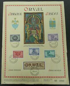 """1943 BELGIUM """" Fifth Orval"""" Mi 625/630, Souvenir sheet, cat.val  OBP = 10.00€"""