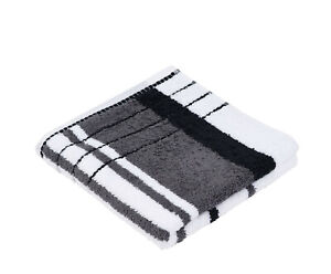 2 Stück Handtücher 50x100cm Gözze Berlin weiß schwarz gemustert