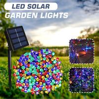 300LED Solar String Lights Waterproof Retro Bulb Fairy Outdoor Garden Party Lamp