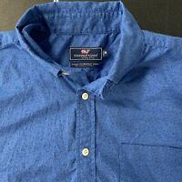 Vineyard Vines Classic Fit Murray Shirt Blue Short Sleeve Medium