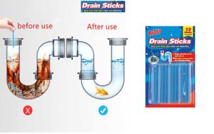 Drain Sticks Odor Drains Clear Cleaner Deodorizer drain Cleaning 12 Pcs
